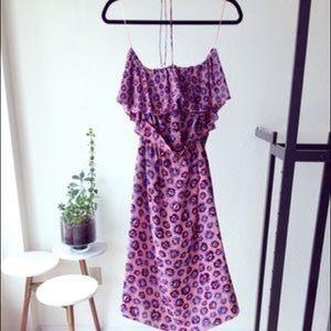 Rebecca Taylor Pom Pom Halter Dress, NWT